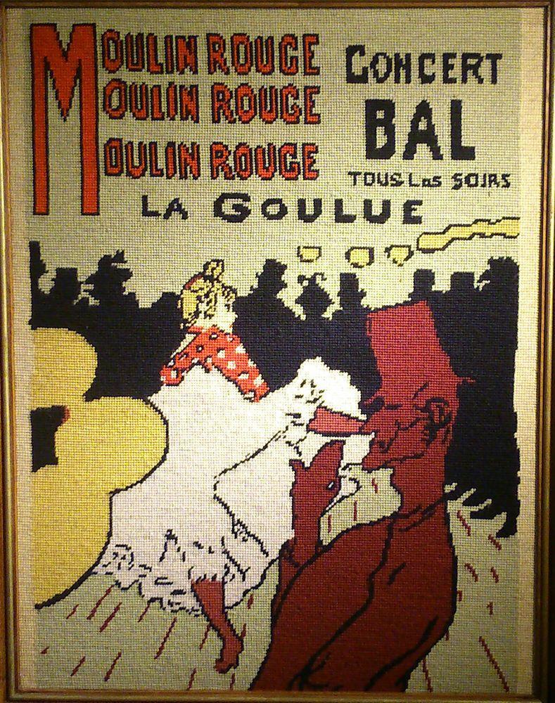 La Goulue d après T.Lautrec Grande Tapisserie Canevas Créations Margot de Paris