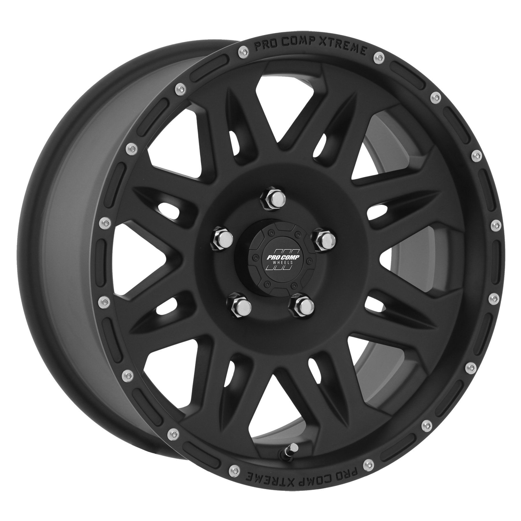 The Pro Comp Series 05 Wheel's gusseted spoke design and