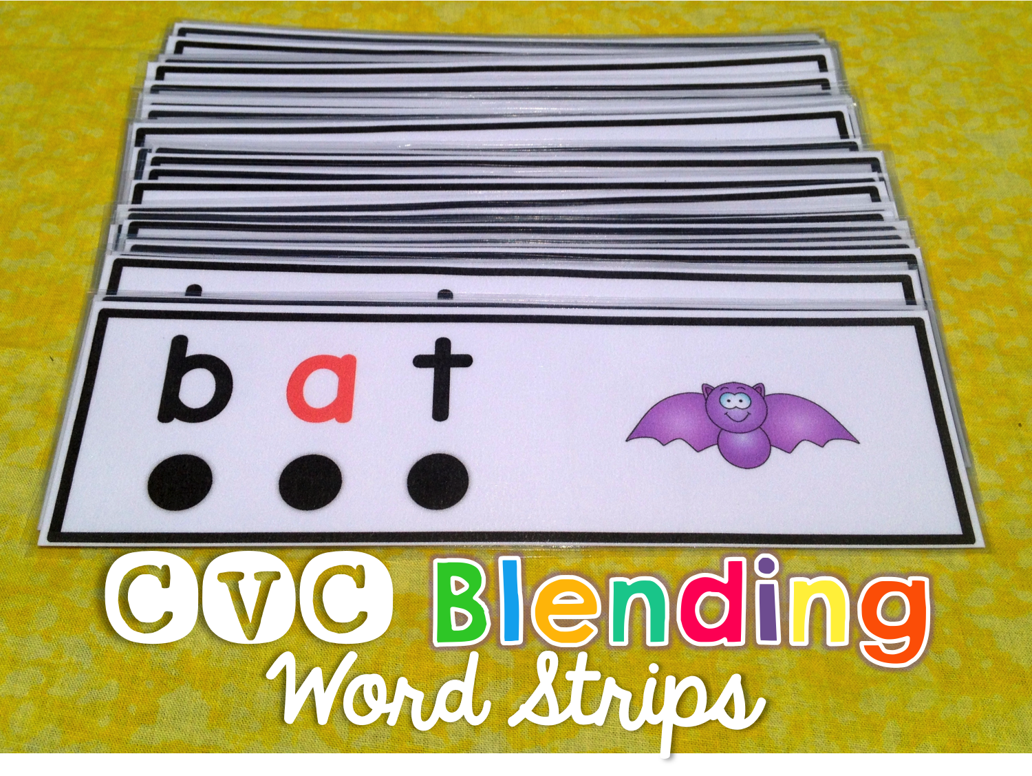 Cvc Words Blending Strips With Images
