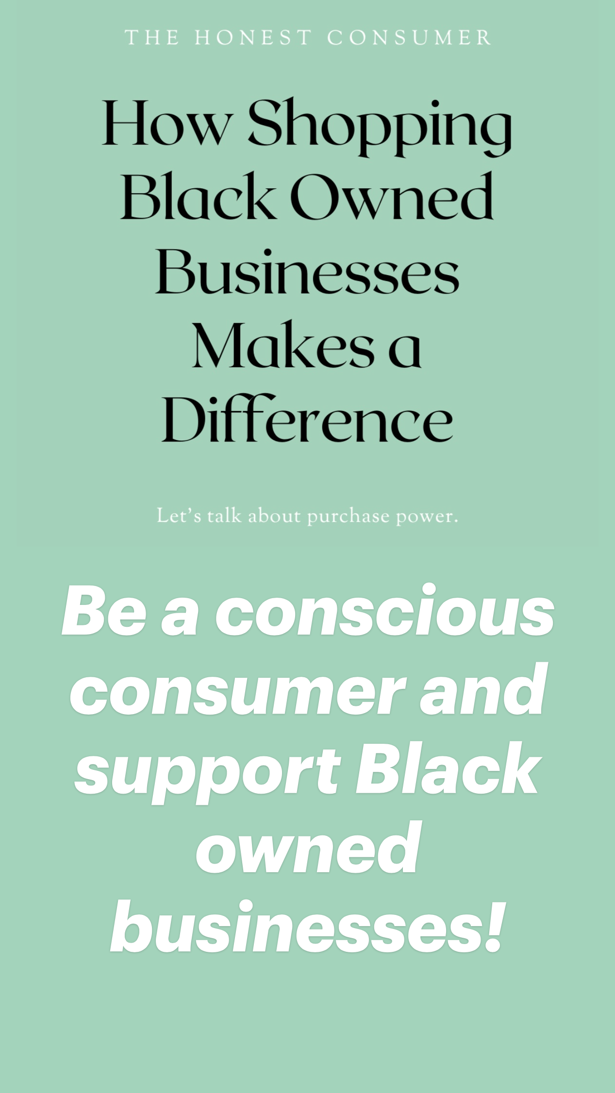 Shop Black Owned Businesses & Make a Difference