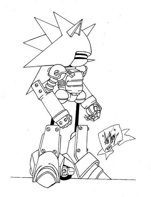 mecha sonic coloring pages | Cartoon | Pinterest