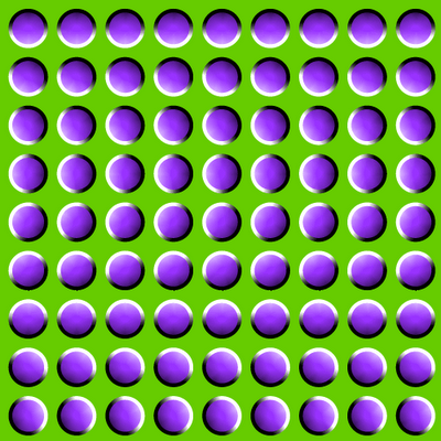 Eye Tricks Scary Optical Illusion | Cool stuff.....due in part to exact complimentary color usage.