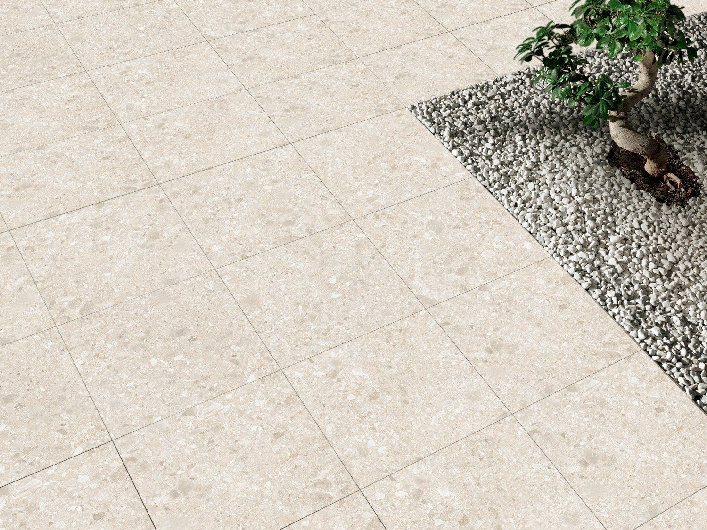 Terrazzo Cream Outdoor Porcelain Slab Tile Terrazzo Tiles