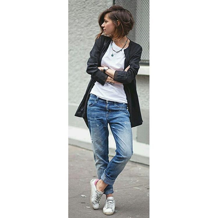 """Despojado!  #estilo #Style #Mulheres #women #jeans #camiseta #lelekalle #tenis"""