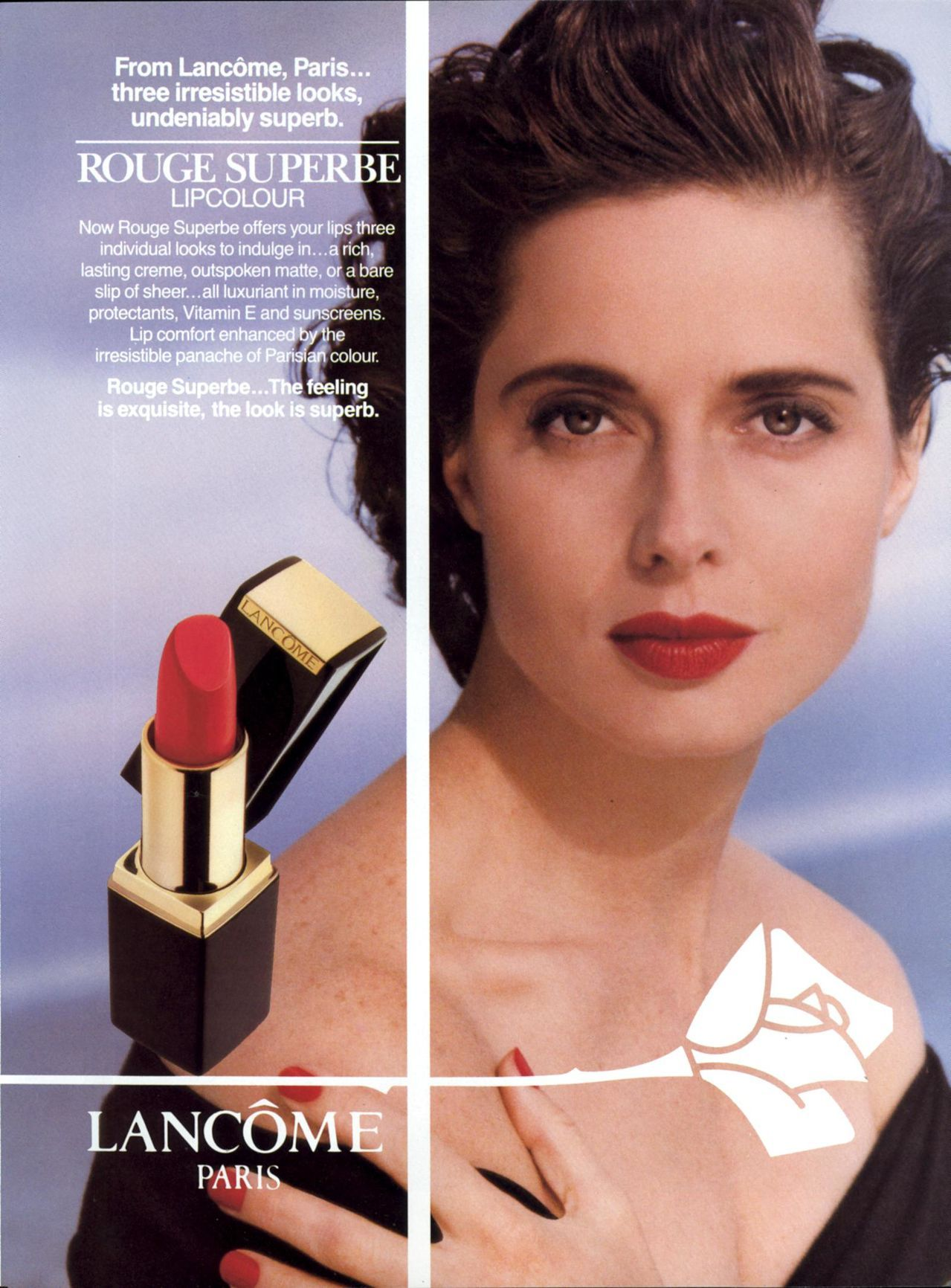 Pin On Isabella Rossellini Lancome