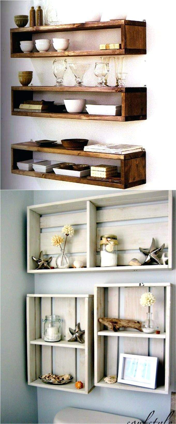 Hanging Pallet Wall Art 16 Easy And Stylish Diy Floating Shelves