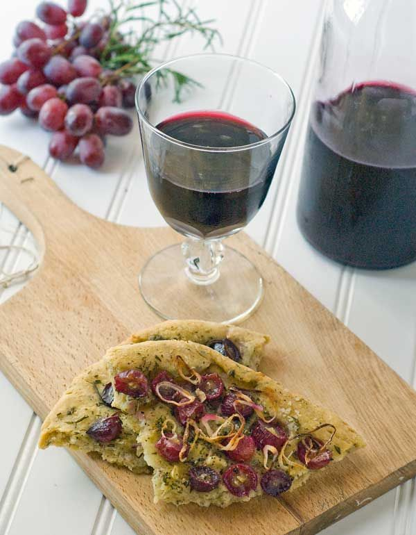 Gluten Free Focaccia with Grapes and Rosemary | Recipe ...
