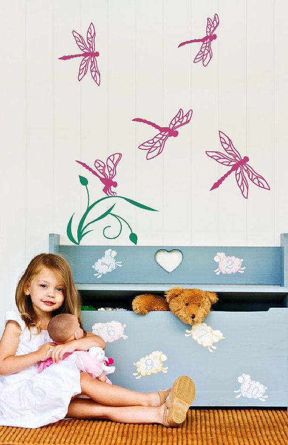 Dragonflies wall decal kids decals room decor by ...