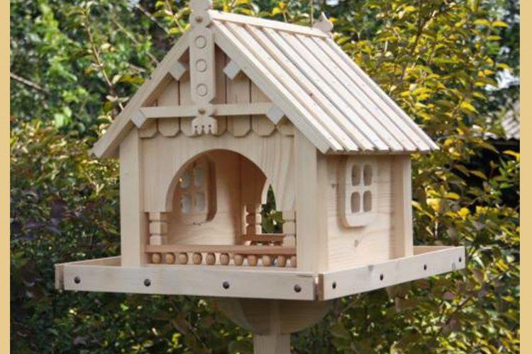 Exclusive Wooden Bird Table House Bird Feeder Feeding House Station #1