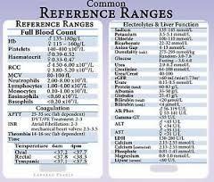 normal blood count values chart: Normal lab values chart nursing pdf google search nursing
