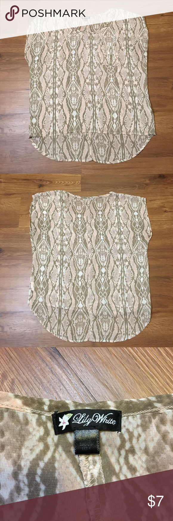 Lily white top A cute sheer Lily White top, perfect for spring and summer Lily White Tops Blouses