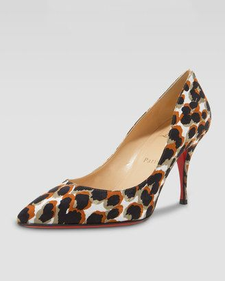 5948895e136f ShopStyle  Christian Louboutin Piou Piou Leopard-Print Point-Toe Pump