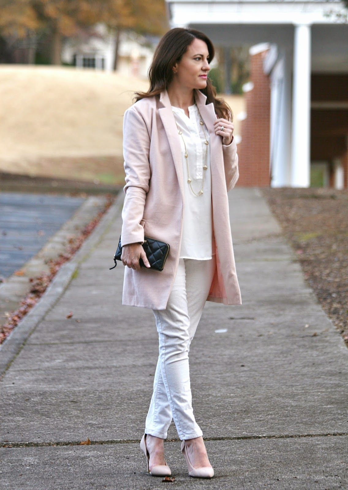 Pale Pink Winter Coat | Down Coat