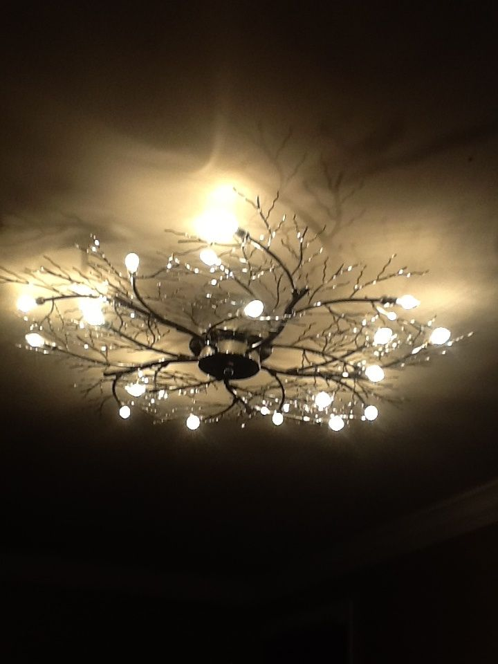 Branch Ceiling Light Fixture Bedroom