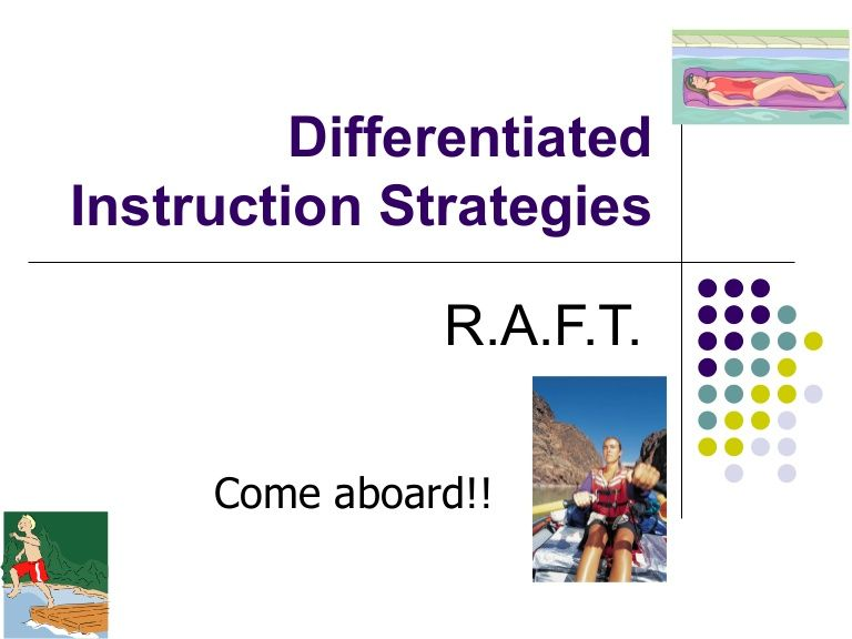 Raft Role Audience Format Topic This Power Point Provides