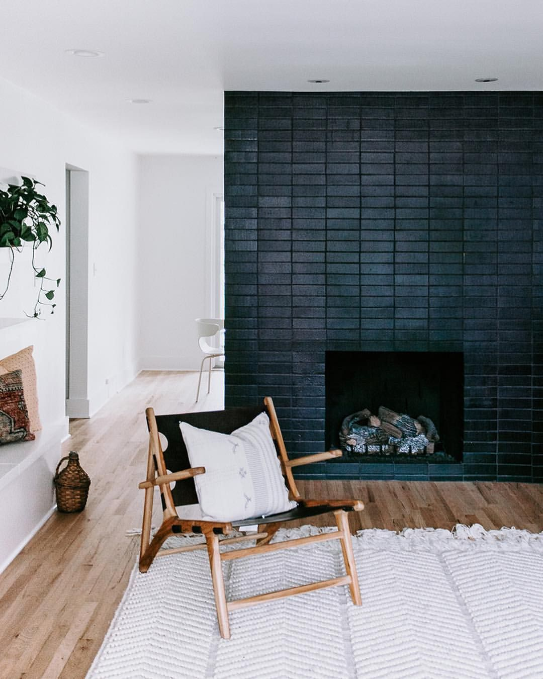 A Glazed Thin Brick Fireplace In Black Hills Became The Focal