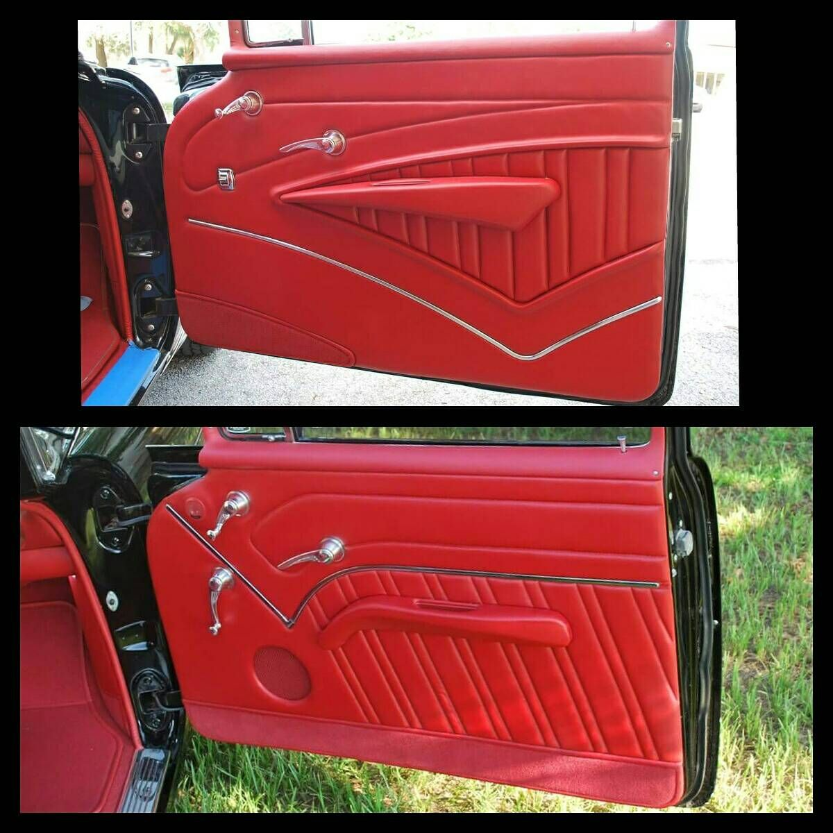 Carpet On Door Panels Yea Or Nay Trifive Com 1955 Chevy 1956 Chevy 1957 Chevy Forum Talk About Panel Doors Custom Car Interior Car Interior Upholstery