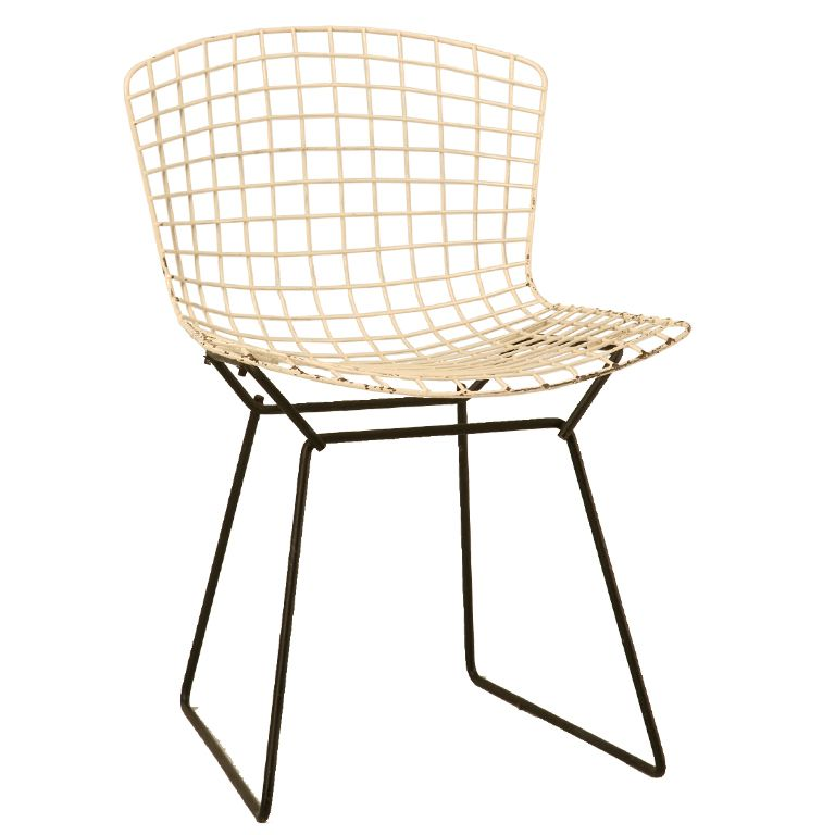 Bertoia Wire Chair Original Waiting Room Chairs Cheap Vintage Side In White Garden Furniture