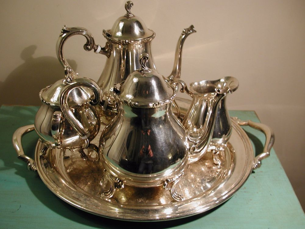 Vintage Leonard Silver Plate Tea And Coffee Service - Five Pieces ...