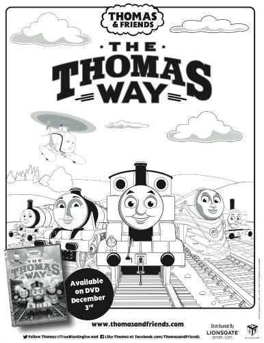 thomas friends printable coloring page - Thomas Friend Coloring Pages