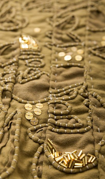 couching + beading + sequins, Alabama Channin style