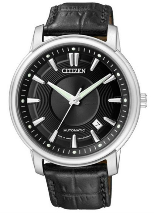 Citizen Automatic Black Dial Date Black Leather #NB0000-01E. Basic automatic from Citizen. $400.