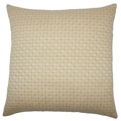 The Pillow Collection Nahuel Geometric Throw Pillow Cover Color: Bamboo