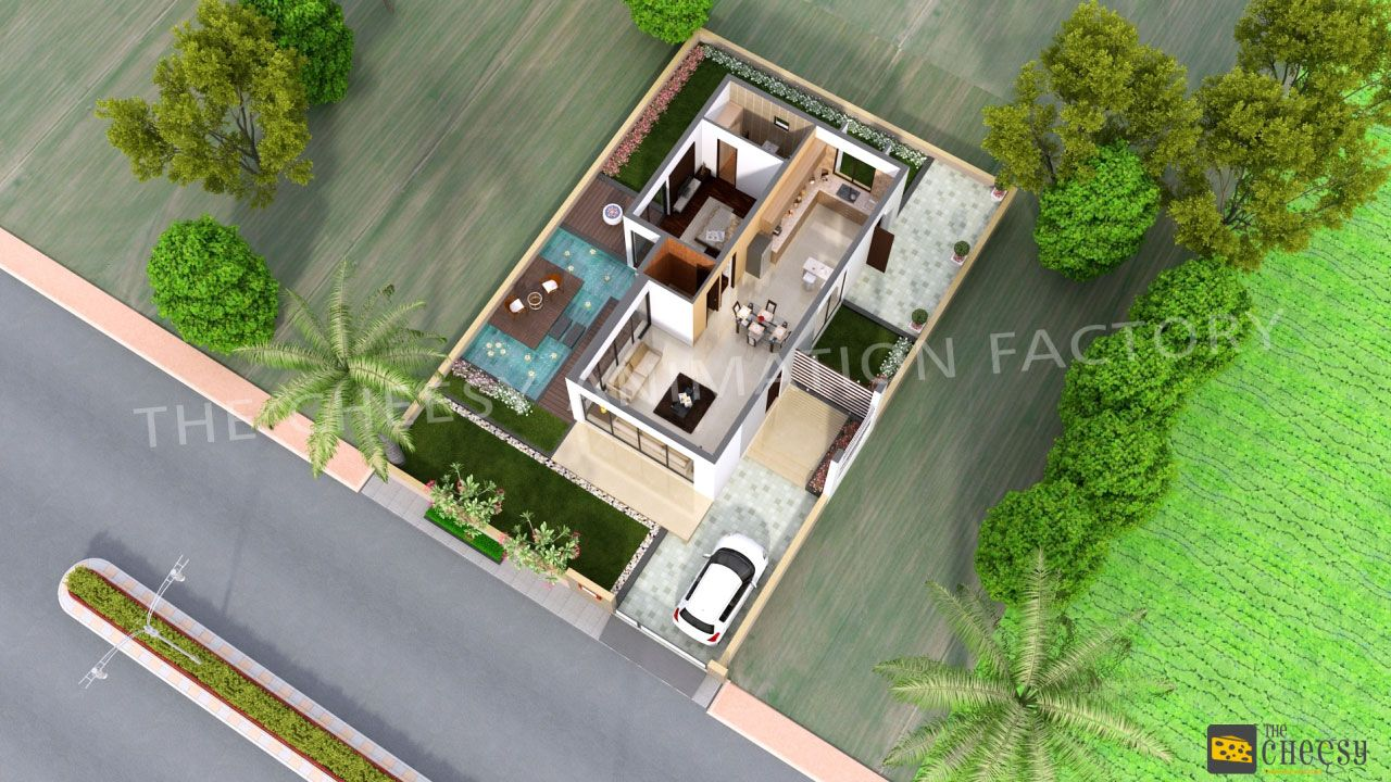 3d floor plan design services provided by the cheesy for Home site plan
