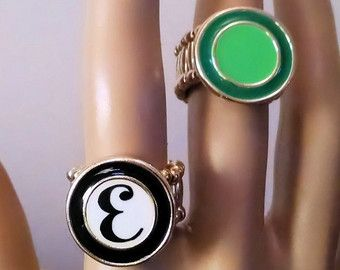 Fun Initial Ring, @Etsy #Etsy SoCoolDesigns.Etsy.com #jewelry #initialring #funjewelry #fashionjewelry #ring