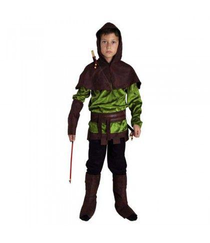 Ρομπέν Των Δασών με κουκούλα στολή για αγόρια θρύλος στο δάσος του Σέργουντ