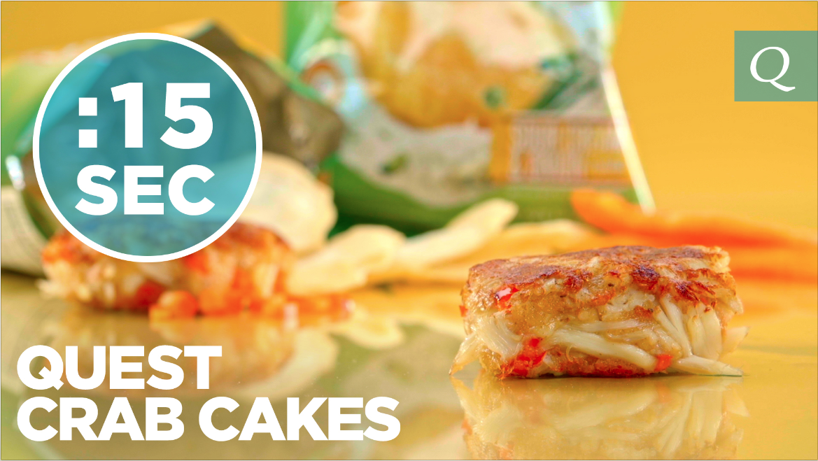 Crab Cake Recipe Low Calorie: Quest Nutrition Crab Cakes #15SecondRecipe