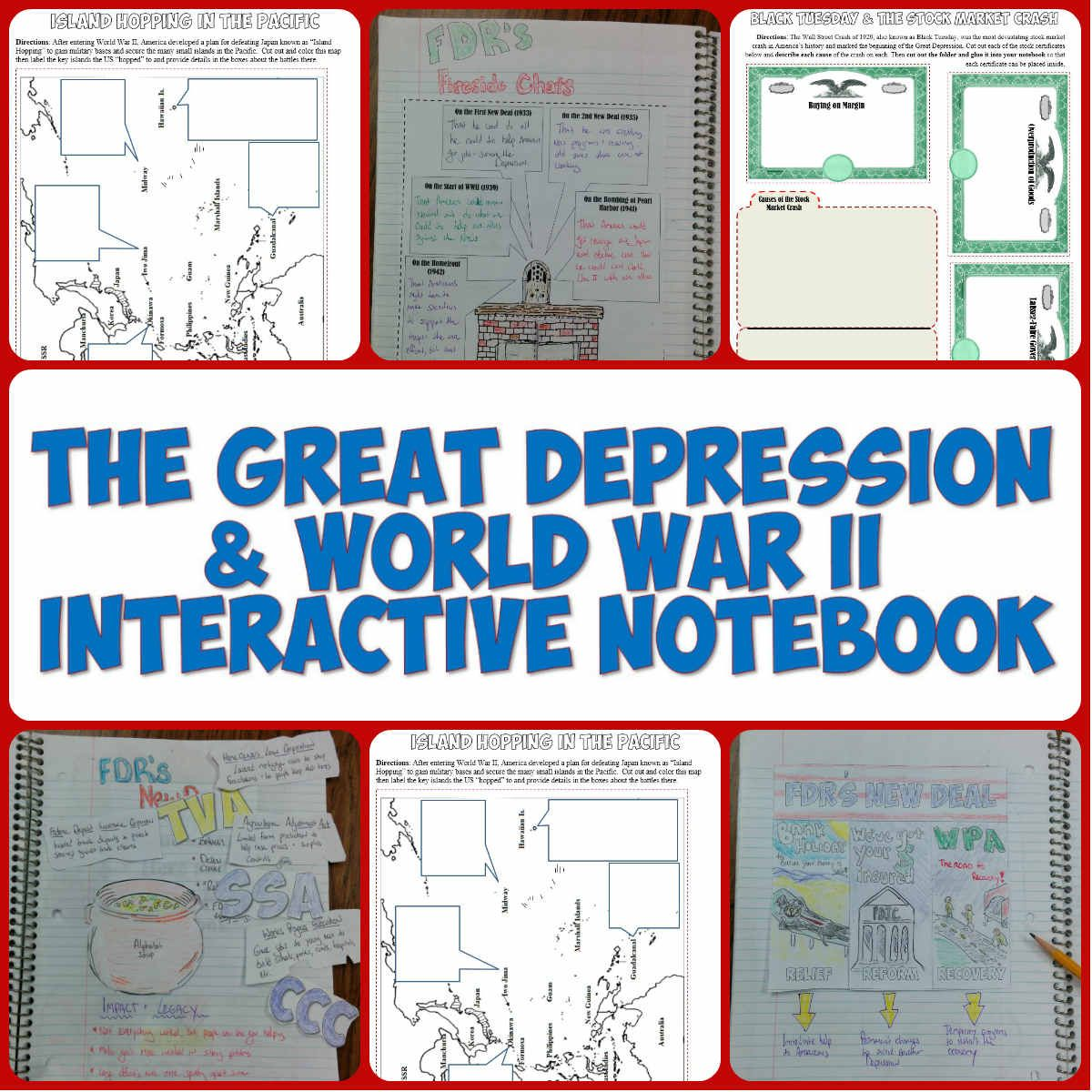 great depression and world war ii interactive notebook pages  great depression and world war ii interactive notebook pages