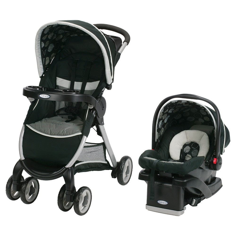 Graco FastAction Fold Click Connect Travel System, Milan