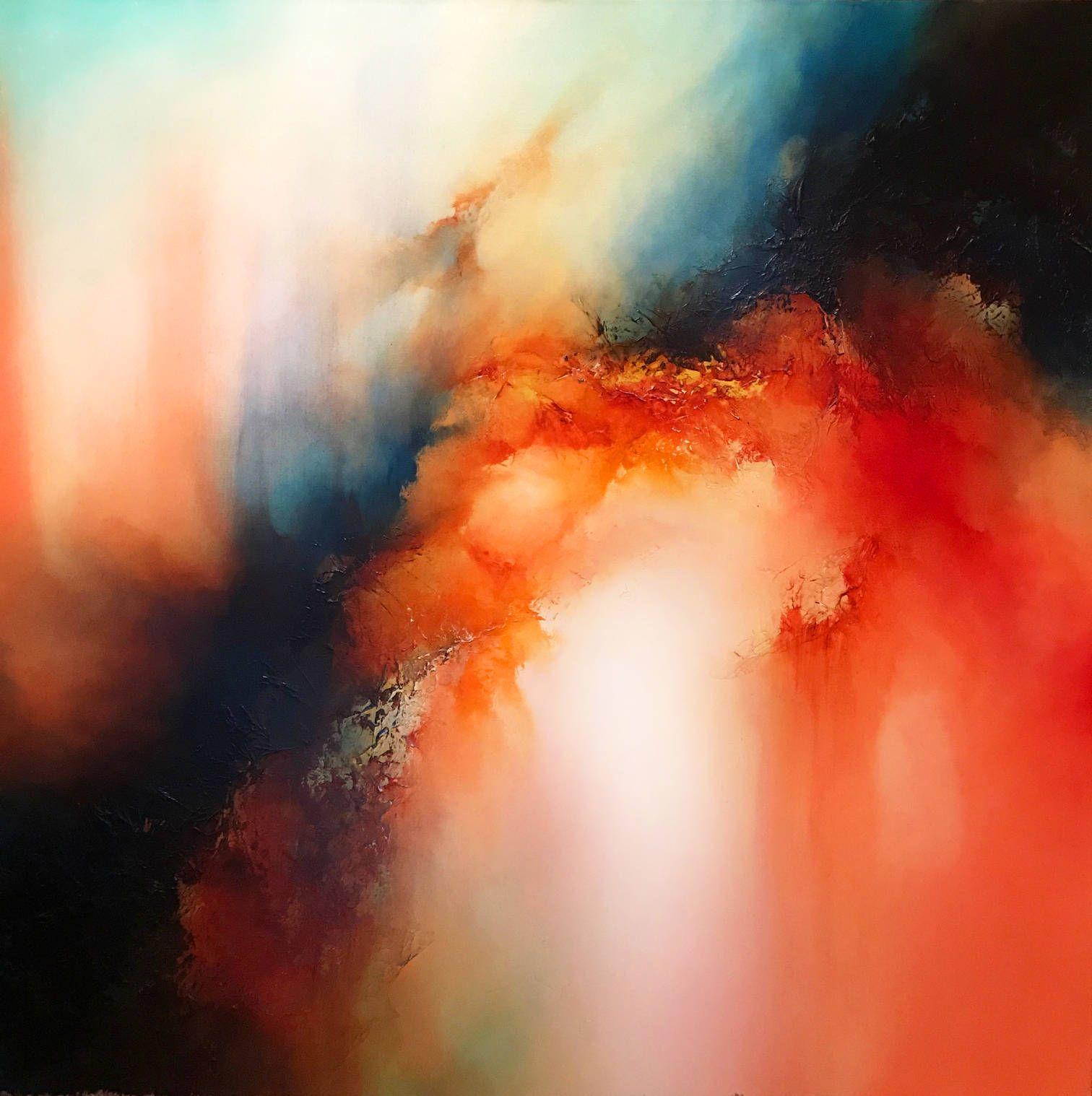 Zeitgenössische abstrakte Mischtechnik Malerei auf große | Abstract ...