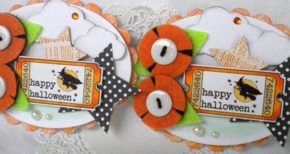 Sweet and Spooky Halloween Collage Tags Set by KindrasCreations