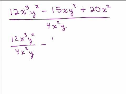 Divide A Polynomial By A Monomial Math Lessons Polynomials Printable Math Worksheets Dividing by monomials worksheet 2