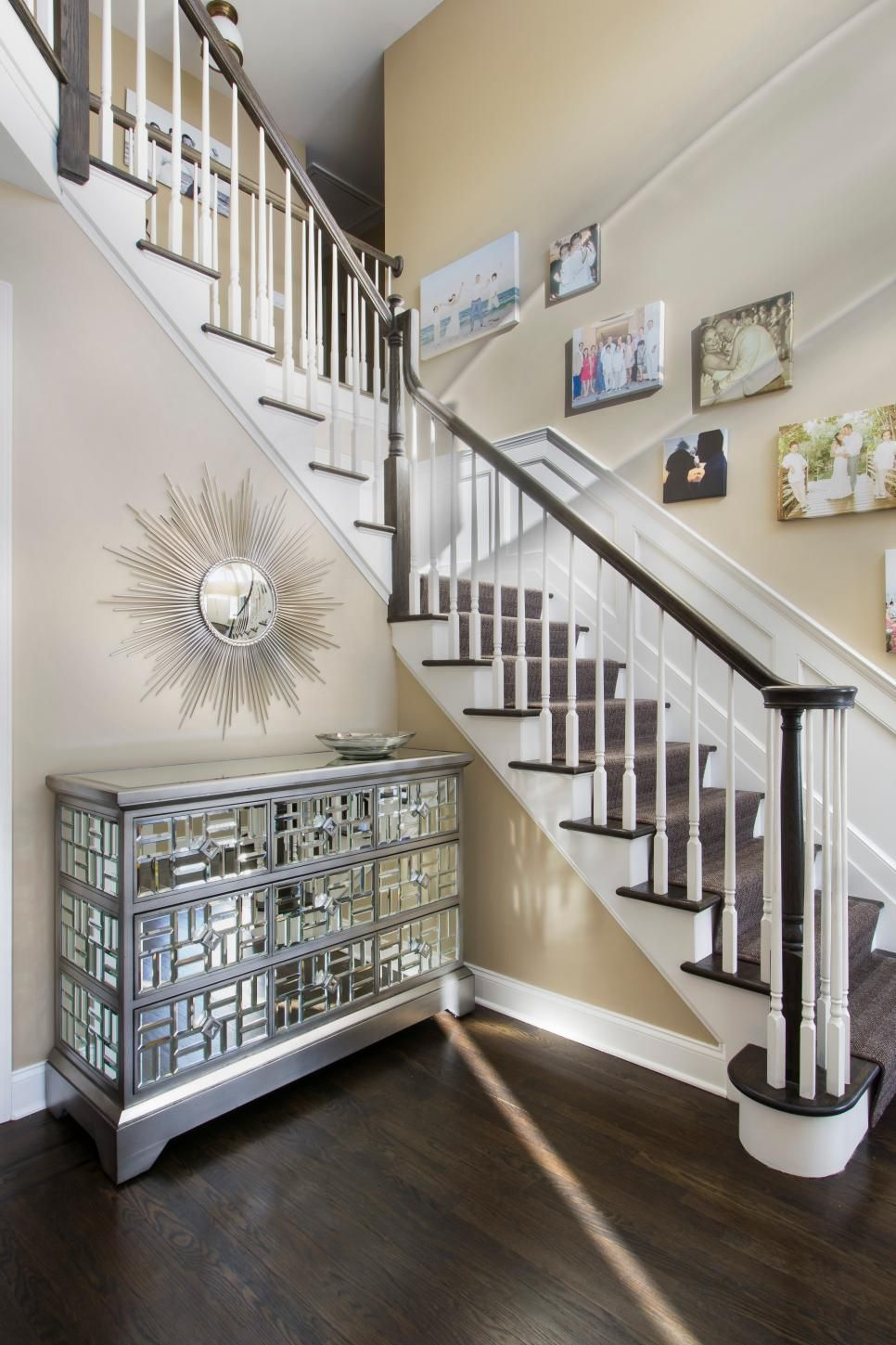 Hallway and stairs wallpaper  Tall Wainscoting Basements wainscoting colors colourWainscoting