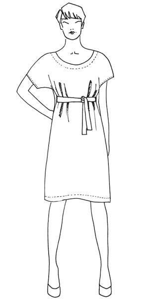 Schnittmuster: Kleid mit Gürtel nähen - eine Anleitung | Pinterest ...