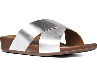 0beb87c72ace9 Love these silver sandals from my favorite brand of shoes. FitFlop. You can  walk in them FOREVER and no blisters.
