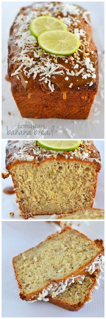Bring the tropical flavors of banana, coconut, and lime to your kitchen with this Jamaican Banana Bread!  Even though the ingredient list is long, this recipe is easy to make and soooo worth it! Jamaican Banana Bread http://kitchenmeetsgirl.com/jamaican-banana-bread/