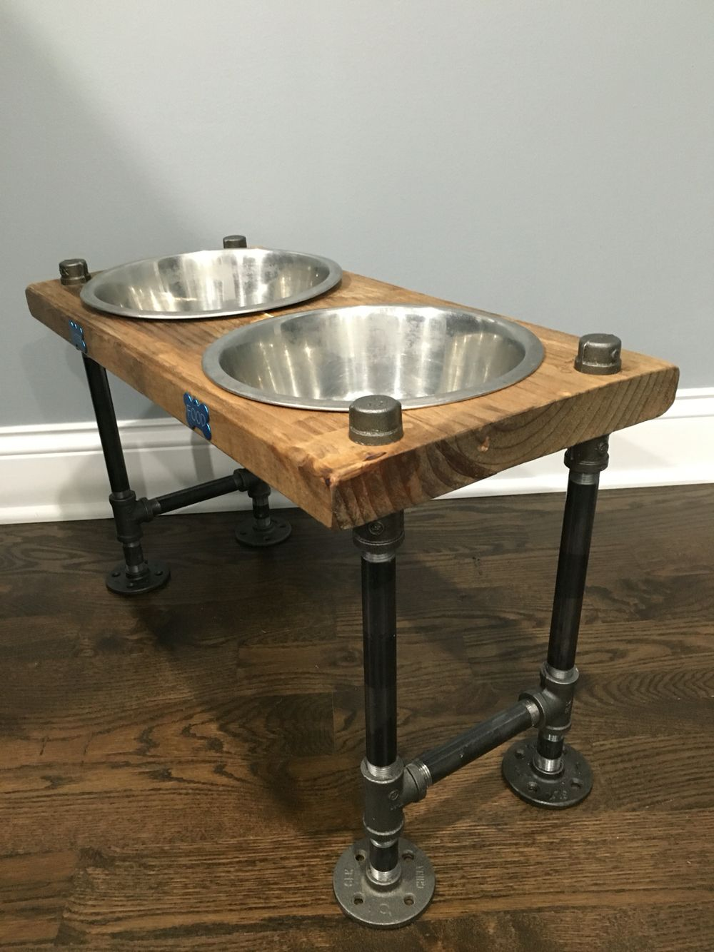Rustic Dog Bowl Feeder By Lightrooom On Etsy