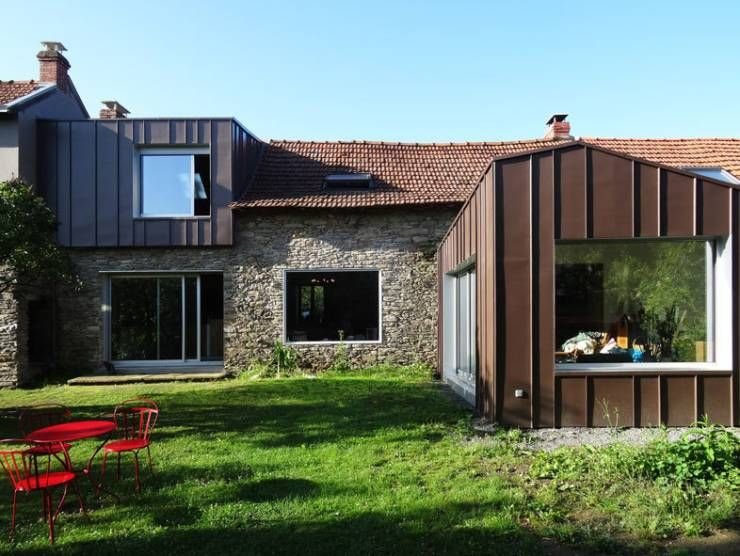 Modernité assurée pour cette maison ancienne! Extensions, Narrow - Extension Maison Prix Au M