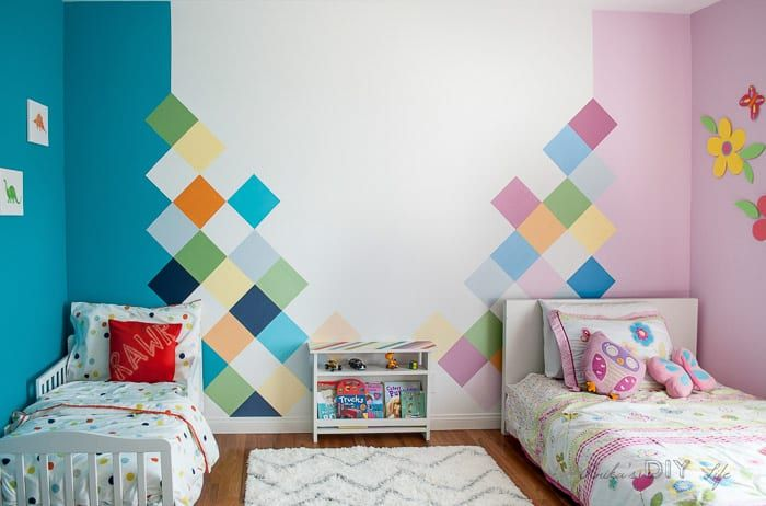 How to: Colorful Accent Wall for Kids Room images