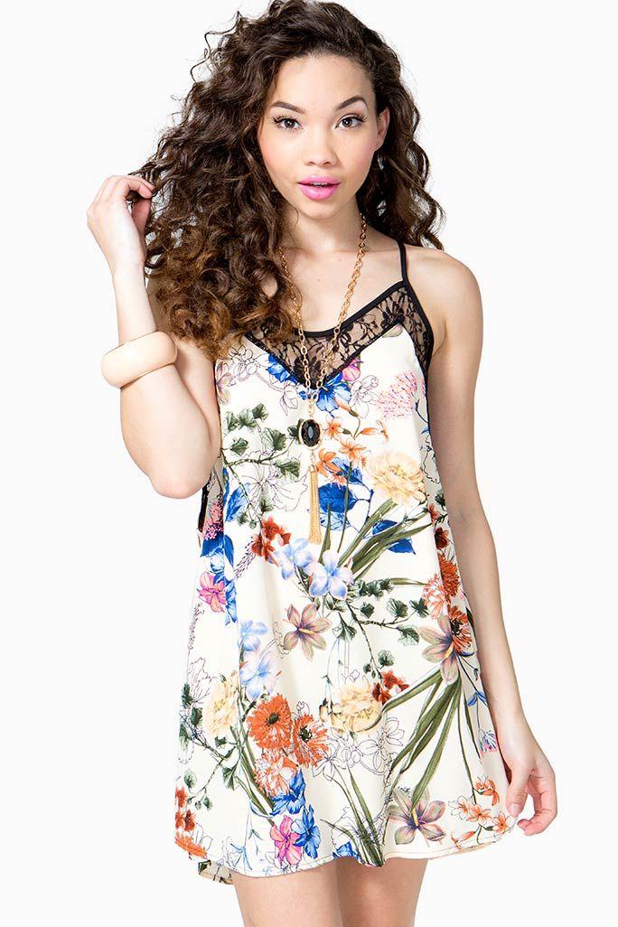 Wild Floral Slip Dress I've been obsessed with Flow-y Slip dresses