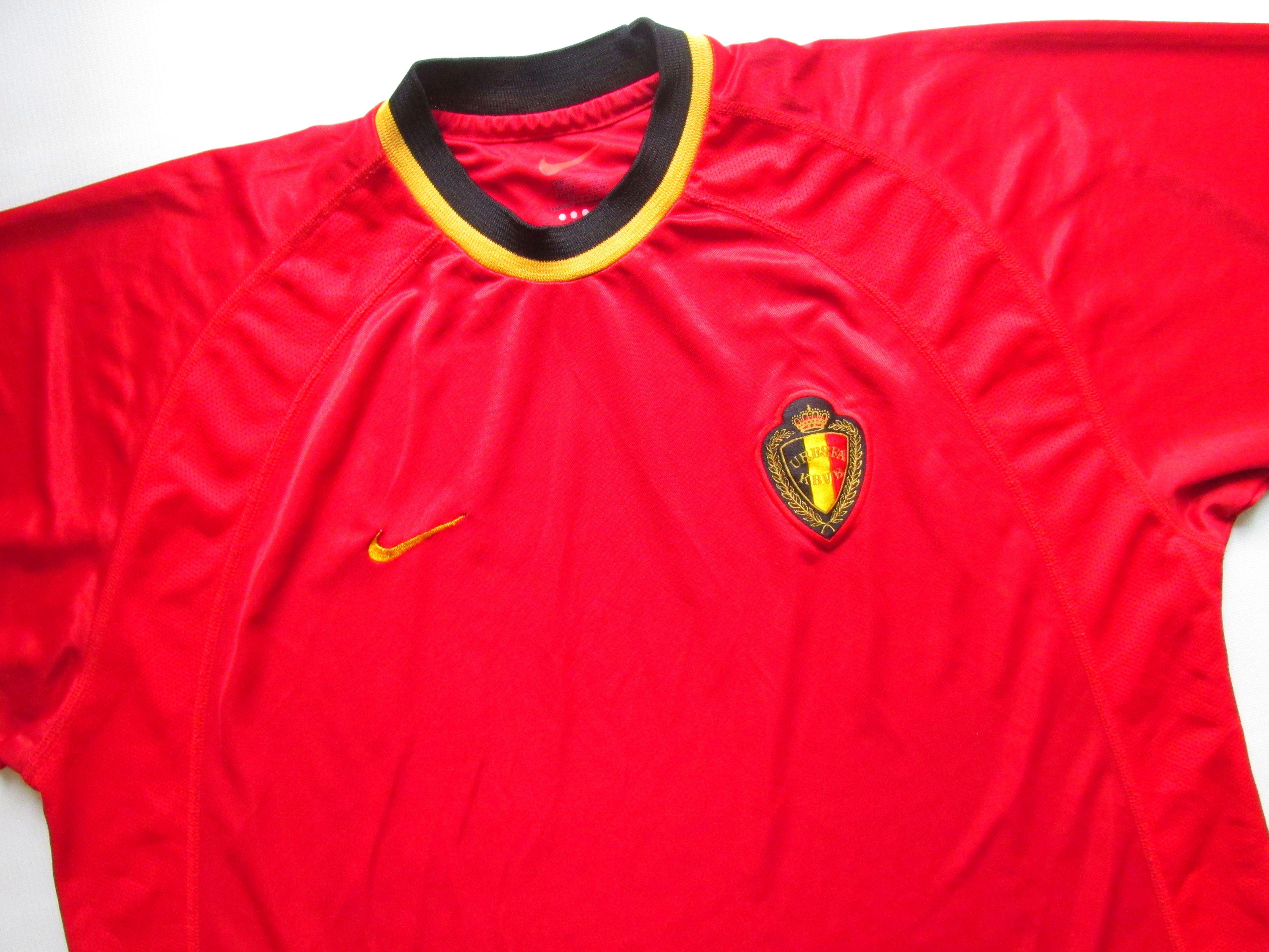 Belgium Euro 2000 2001 2002 Home Football Shirt Jersey Maillot Trikot Nike Xl Ebay Football Shirts National Football Teams Football