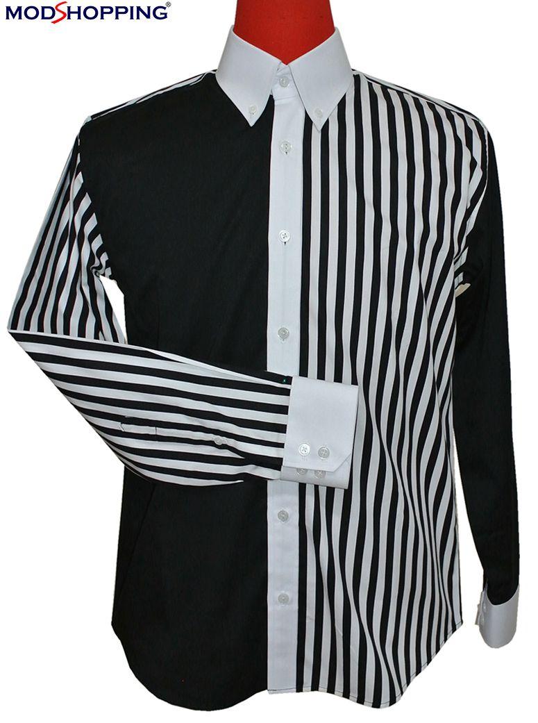 Vintage Style Roger Daltrey Black White Button Down Shirt [ 1041 x 775 Pixel ]