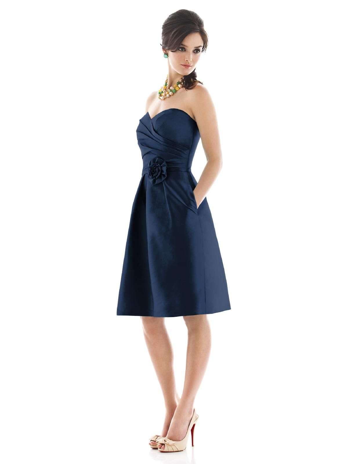 Alfred sung style d495k picked out one strapless one even though we alfred sung dress peau de soie surplice top in seam pockets ombrellifo Gallery