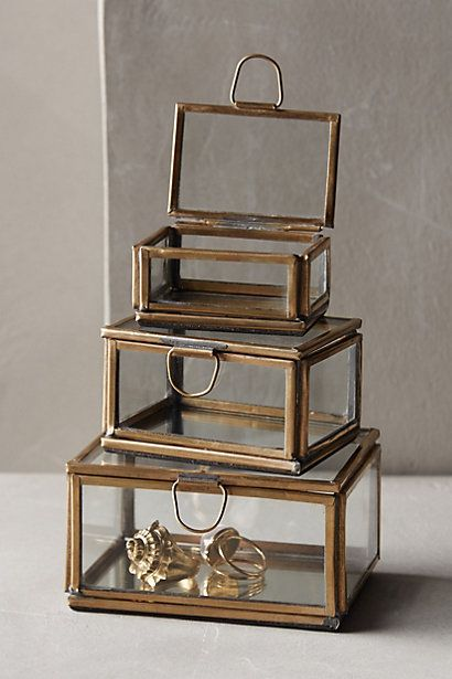 Mirrored Display Boxes - anthropologie.com