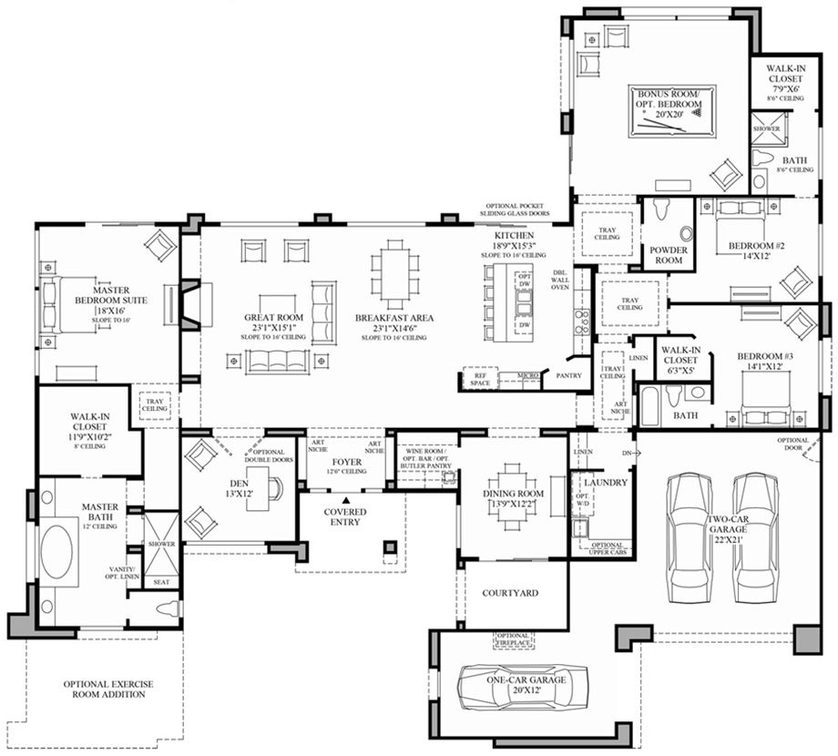 Contemporary luxury home floor plans thefloors co for Modern home design floor plans