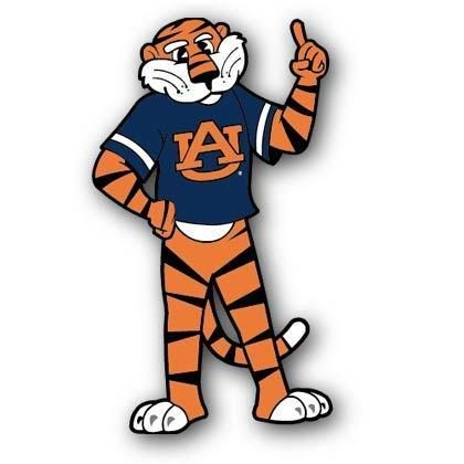auburn tigers aubie mascot logo college mascots sec rh pinterest com Auburn University Tiger Logo Washington Nationals Baseball Logo